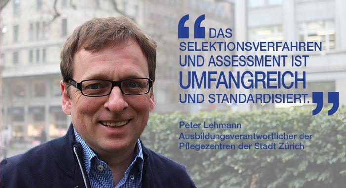 Peter Lehmann, Ausbildungsverantwortlicher der Pflegezentren der Stadt Zürich